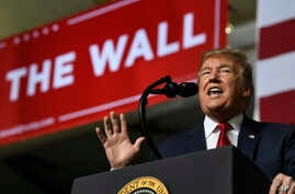 President Donald Trump speaks during a rally in El Paso, Texas, Feb. 11, 2019.