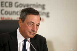 European Central Bank (ECB) president Mario Draghi addresses a news conference after a meeting of the ECB Governing Council in St Julian's, outside Valletta, Malta, Oct. 22, 2015.