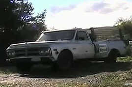 Rick Bates is modifying his 1969 GMC truck to run on a wood-gas combination.