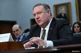U.S. Secretary of State Mike Pompeo testifies at a House Appropriations Subcommittee hearing on the State Department's budget request for 2020 in Washington, D.C., March 27, 2019.
