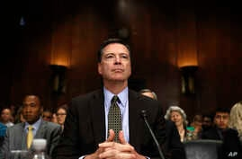 "FBI Director James Comey prepares to testify on Capitol Hill in Washington, May 3, 2017, before the Senate Judiciary Committee hearing: ""Oversight of the Federal Bureau of Investigation."""