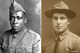 U.S. Army Sgts. Henry Johnson, left, and William Shemin, right, are pictured in these undated photographs released June 2, 2015.
