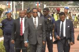 Cameroon Minister of Defense Joseph Beti Assomo visits his