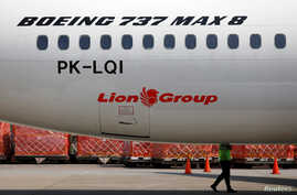 Lion Air's Boeing 737 Max 8 airplane is parked on the tarmac of Soekarno Hatta International airport near Jakarta, Indonesia, March 15, 2019.