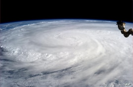 NASA image taken from International Space Station by Astronaut Karen L. Nyberg shows Typhoon Haiyan, Nov. 9, 2013.