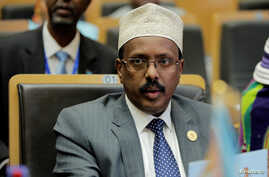 FILE PHOTO: Somalia's President Mohamed Abdullahi Mohamed attends the 30th Ordinary Session of the Assembly of the Heads of State and the Government of the African Union in Addis Ababa, Ethiopia, Jan. 28, 2018.