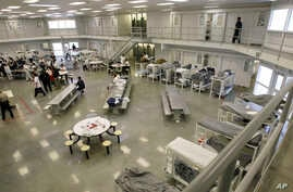 "The ""B"" cell and bunk unit of the Northwest Detention Center in Tacoma, Washington. is shown, Oct. 17, 2008."