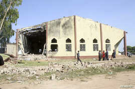 A view of St. Rita's Catholic church in Kaduna, Nigeria, after a bomb attack October 28, 2012.