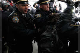 Occupy Activists Fail to Occupy Wall Street