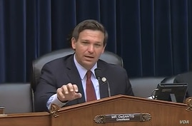 U.S. Republican Congressman Ron DeSantis chairs a July 17, 2018, House national security subcommittee hearing about the possibility of the U.S. recognizing Israel's annexation of the Golan Heights.