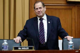 House Judiciary Committee ranking member Rep. Jerrold Nadler, D-N.Y., arrives for a House Judiciary hearing on Capitol Hill in Washington, Dec. 7, 2017, on oversight of the Federal Bureau of Investigation.