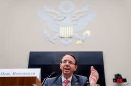 Deputy Attorney General Rod Rosenstein speaks before a House Committee on the Judiciary oversight hearing on Capitol Hill, Dec. 13, 2017.