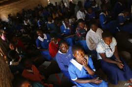In this file photo, school children are seen in a classroom in the village of Chiseka, outside Lilongwe, Malawi.