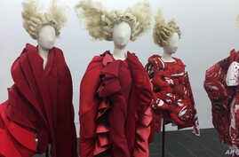 """This photo shows part of the exhibit from """"Rei Kawakubo/Comme des Garcons Art on the In-Between"""" at The Metropolitan Museum of Art in New York, May 1, 2017."""