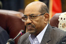 Sudan's President Omar al-Bashir speaks during a one-day summit, Sept. 3, 2013