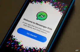 FILE - Facebook's Messenger Kids app is displayed on an iPhone in New York, Feb. 16, 2018.