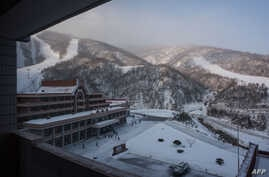 FILE - Masikryong ski resort is seen near North Korea's east coast port city of Wonsan, Feb. 20, 2017.