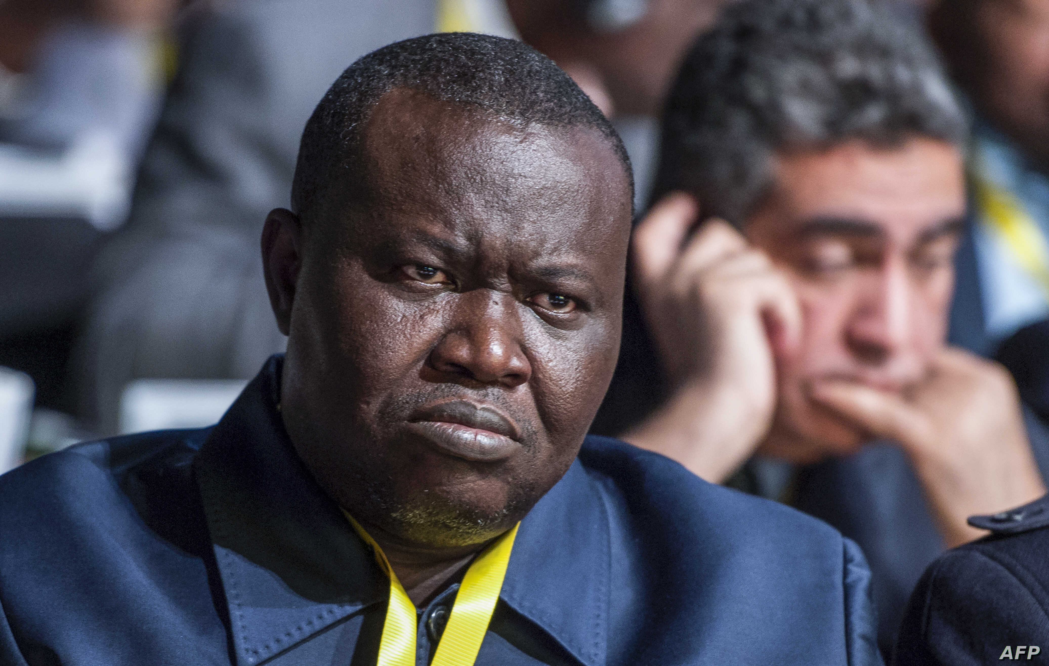 FILE - Central African Republic's football federation chief, Patrice-Edouard Ngaissona, attends the 40th Confederation of African Football general assembly in Casablanca, Morocco, Feb. 2, 2018.