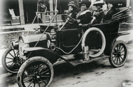Undated photo of Madam C.J. Walker in an early automobile.