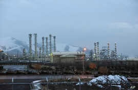 FILE - This Jan. 15, 2011 file photo shows the heavy water nuclear facility near Arak, Iran.