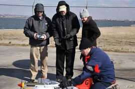 U.S. Navy researchers say they've been able to power a model airplane using fuel derived from seawater. (U.S. Navy)