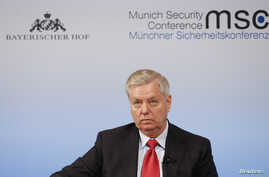U.S Senator Lindsey Graham attends the 53rd Munich Security Conference in Munich, Germany, Feb. 19, 2017.