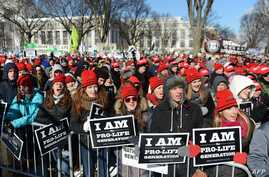 Thousands of anti-abortion demonstrators rally during the 41st annual March of Life on the National Mall in Washington, DC, Jan. 22, 2014.