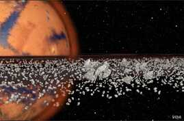 Phobos, a Martian moon, might eventually disintegrate and form a ring around the red planet, according to a new theory by Purdue University scientists. The NASA-funded research indicates that this process of moons breaking apart into rings and then r
