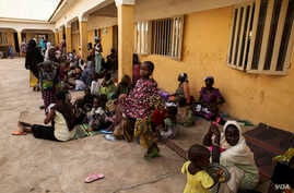 Displaced people rescued from the Sambisa forest are pictured at a camp in Malkohi, Nigeria on May 5, 2015. (Chris Stein)