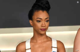 "Sonequa Martin-Green participates in the ""Star: Trek Discovery"" panel during the Television Critics Association Summer Press Tour at CBS Studio Center in Beverly Hills, Calif., Aug. 1, 2017."