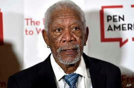 FILE - Actor Morgan Freeman attends the 2018 PEN Literary Gala in New York, May 22, 2018.