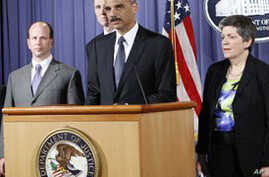 Attorney General Eric Holder at news conference, 04 May 2010
