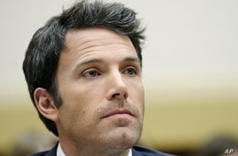 Ben Affleck at hearing before US House of Representatives, Mar 8, 2011