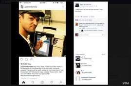 Justin Timberlake's Facebook post, showing that he flew to Tennessee to cast his vote early.