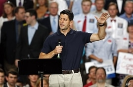 Republican vice presidential candidate Rep. Paul Ryan, R-Wis., speaks during a campaign event in Raleigh, N.C. Aug. 22, 2012