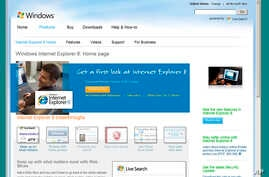FILE - An image of a page on the Microsoft Internet Explorer Web site.
