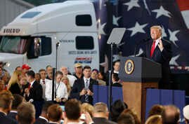 President Donald Trump speaks about tax reform during an event at the Harrisburg International Airport, Oct. 11, 2017, in Middletown, Pennsylvania.