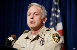 Clark County Sheriff Joe Lombardo speaks at a news conference, Aug. 3, 2018, in Las Vegas.