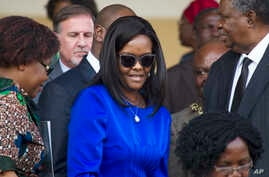 Zimbabwean first lady Grace Mugabe attends the Harare Agriculture Show in Harare, Zimbabwe, Aug. 25, 2017.