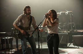 "A scene from ""A Star is Born"" with Bradley Cooper and Lady Gaga."