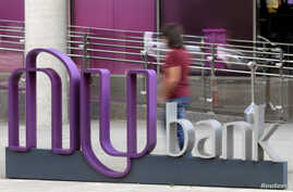 The logo of Nubank, a Brazilian Fintech startup, is pictured at the bank's headquarters in Sao Paulo, Brazil, June 19, 2018.