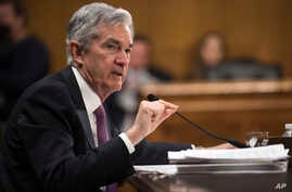 Federal Reserve Chairman Jerome Powell testifies before the Senate Banking, Housing and Urban Affairs Committee, Feb. 26, 2019 in Washington.