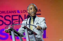 FILE - Rev. Al Sharpton seen at the 2018 Essence Festival at the Ernest N. Morial Convention Center on Saturday, July 7, 2018, in New Orleans.