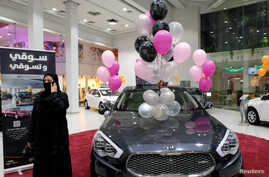 A Saudi woman is seen at the first automotive showroom solely dedicated for women in Jeddah, Saudi Arabia Jan. 11, 2018.
