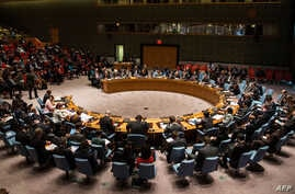 The United Nations Security Council meets regarding the on-going crisis in the Central Africa Republic on March 6, 2014 in New York City.