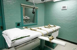 FILE - The gurney in Huntsville, Texas, May 27, 2008, where Texas' condemned are strapped down to receive a lethal dose of drugs.
