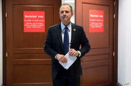 FILE - Rep. Adam Schiff, D-Calif., ranking member of the House Permanent Select Committee on Intelligence, leaves a secure area where the panel meets as Democrats seek to push back against a classified memo released by Republicans last week .