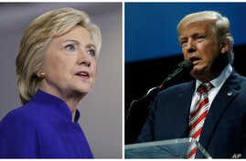 Democratic presidential candidate Hillary Clinton (L), Sept. 21, 2016 and Republican presidential candidate Donald Trump (R), Sept. 22, 2016. (AP/Reuters combination photo)