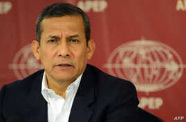 Former Peruvian President Ollanta Humala (2011-16) offers a press conference to the members of the foreign press residing in Lima,May 22, 2017.