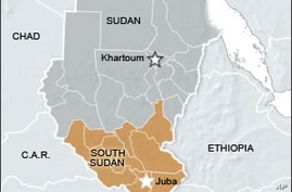 map of sudan and south sudan